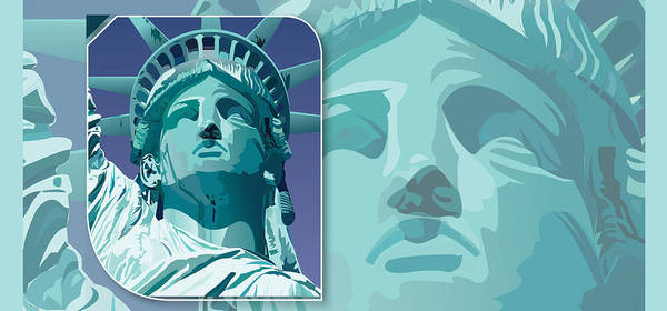 Drawing - Lady Liberty  by Joanne Brown