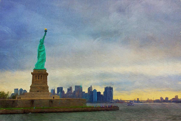 Liberty Bridge Photograph - Lady Liberty by Kim Hojnacki