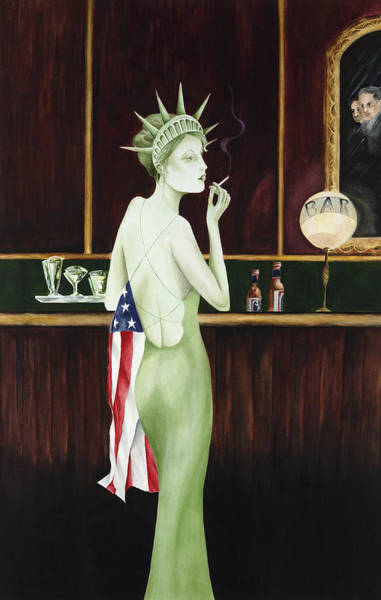 Wall Art - Painting - Lady Liberty - Liz Revit by Liz Revit