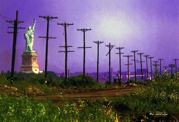 Painting - Lady Liberty Lost by RC DeWinter