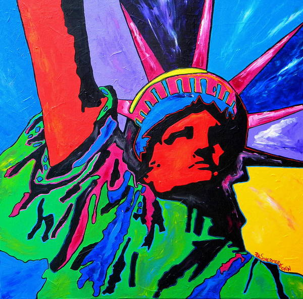 Painting - Lady Liberty by Patti Schermerhorn