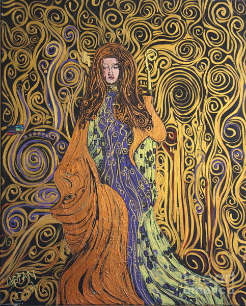 Painting - Lady Of Swirl by Stefan Duncan