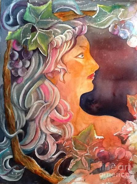 Painting - Lady Of The Grapes by Carol Losinski Naylor