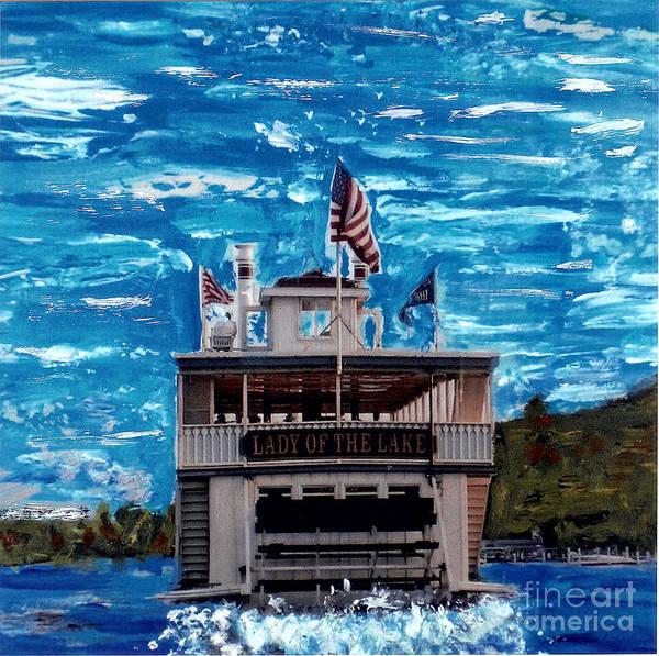 Mansion Mixed Media - Lady Of The Lake Geneva Lake Wi by Jane Butera Borgardt