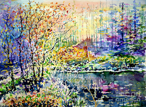 Phantasy Wall Art - Painting - Lady Of Wood And Pond by Almo M