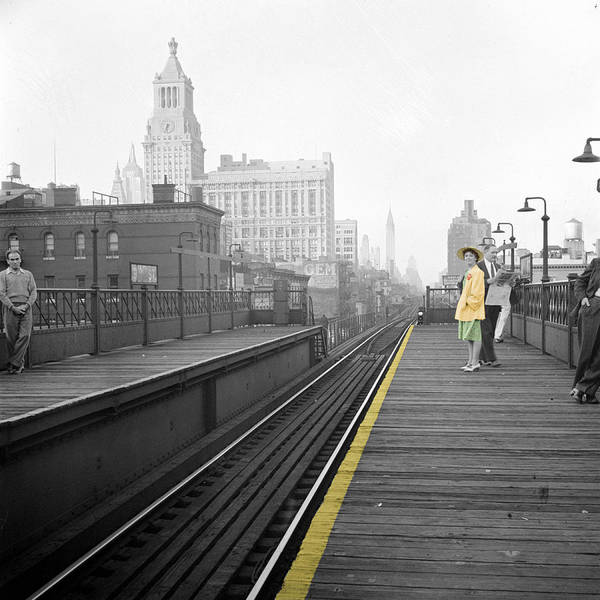 Photograph - Lady On The El  by Andrew Fare