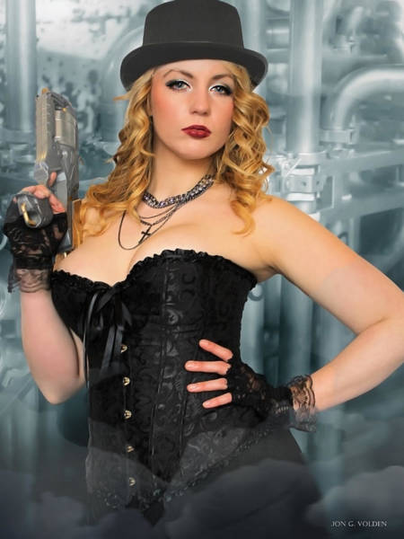 Cosplay Photograph - Lady Steam Punk by Jon Volden