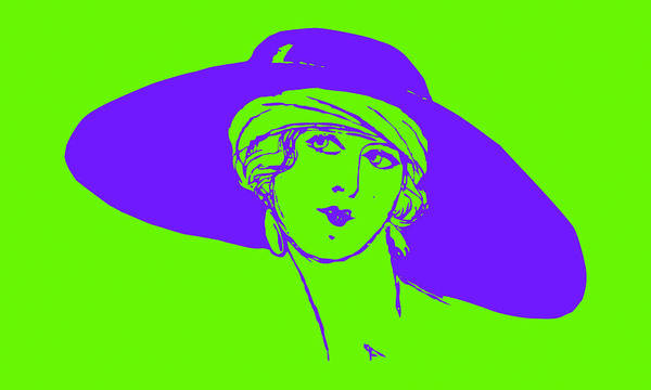 Photograph - Lady With Hat 1a by Mauro Celotti