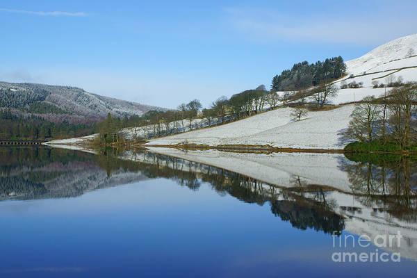 Photograph - Ladybower Winter Reflections by David Birchall