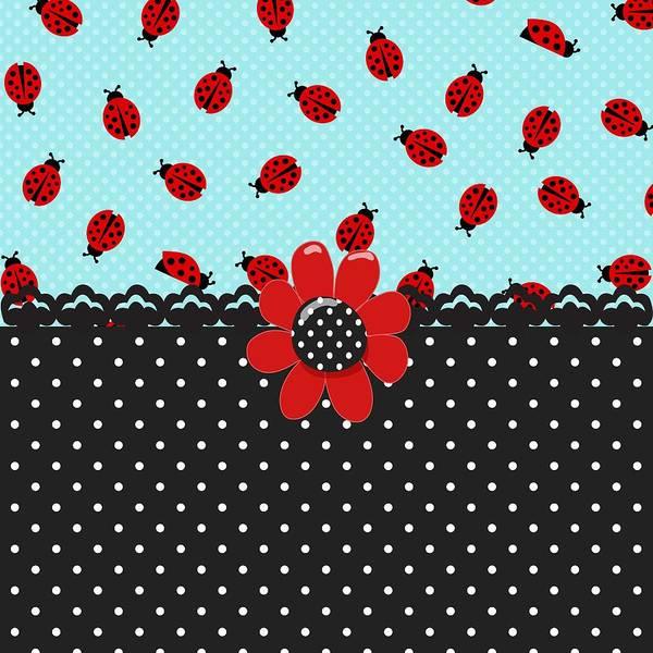 Blue Bug Digital Art - Ladybug Bliss by Debra  Miller