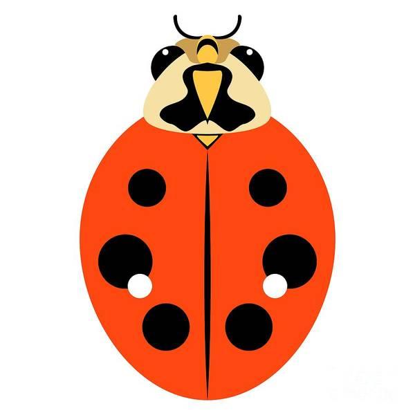 Digital Art - Ladybug Graphic Orange by MM Anderson