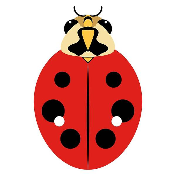 Digital Art - Ladybug Graphic Red by MM Anderson