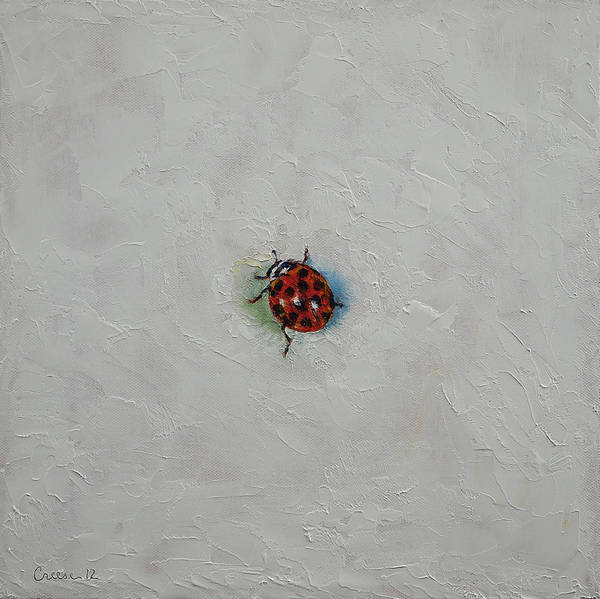 Lady Bug Wall Art - Painting - Ladybug by Michael Creese