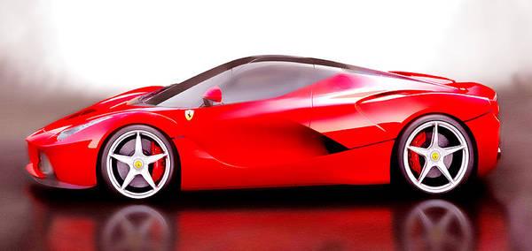 Super Car Mixed Media - Laferrari by Brian Reaves