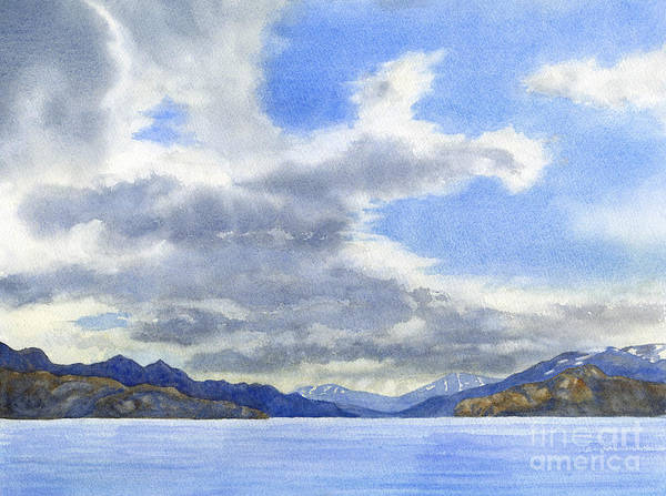 Mountain Lake Painting - Lago Grey Patagonia by Sharon Freeman