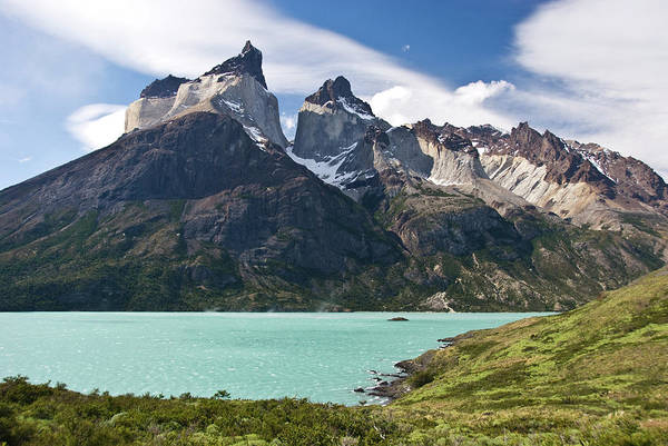Antartica Wall Art - Photograph - Lago Nordenskjold And Cuernos Massif by John Elk
