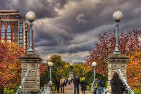 Photograph - Lagoon Bridge In Boston Public Garden by Joann Vitali