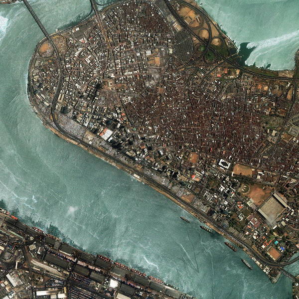 Nigeria Wall Art - Photograph - Lagos by Geoeye/science Photo Library