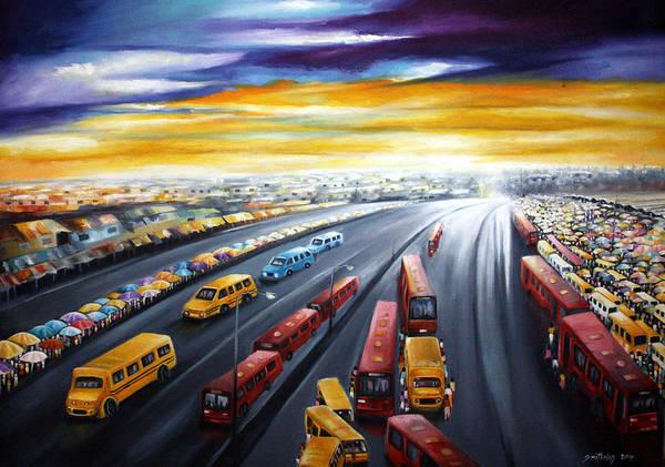 Nigeria Painting - Lagos Traffic by Olaoluwa Smith