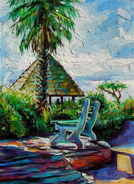 Laguna Beach Painting - Laguna Beach Bench by Karen Doyle