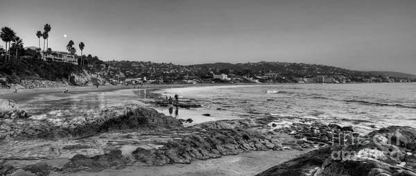 Photograph - Laguna Beach Panorama Black And White by Eddie Yerkish