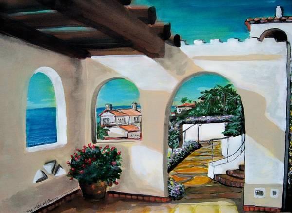 Laguna Beach Painting - Laguna Beach Sun Patio by Mitchell McClenney