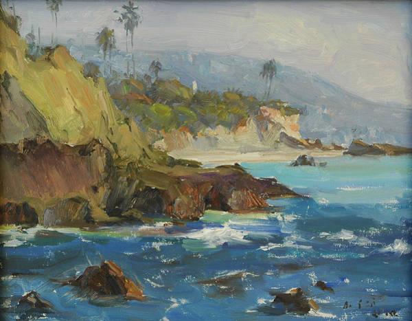 Laguna Beach Painting - Laguna Bluff by Kuen Tse