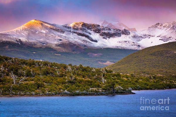 Andes Photograph - Laguna Capri Sunrise by Inge Johnsson