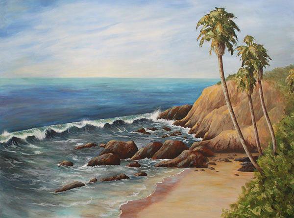 Laguna Beach Painting - Laguna Coast by Nancy Goldman