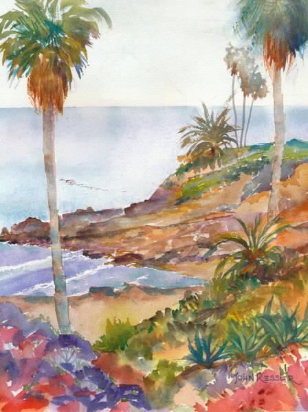 Laguna Beach Painting - Laguna Cove by John Ressler