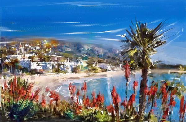 Sunny Mixed Media - Laguna Sparkle by Russell Pierce
