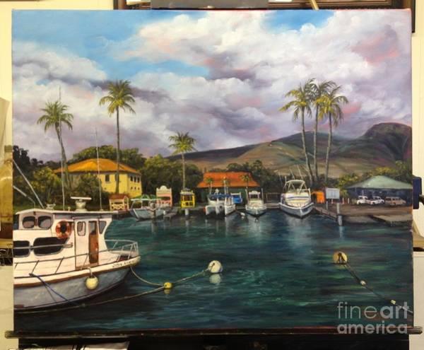 Painting - Lahaina Harbor Wip 12 by Darice Machel McGuire