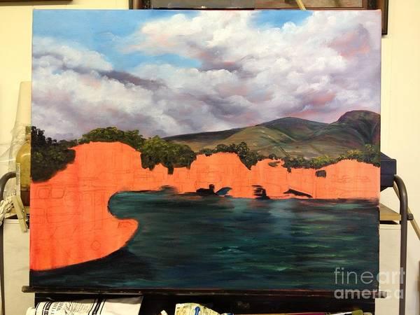 Painting - Lahaina Harbor Wip 3 by Darice Machel McGuire