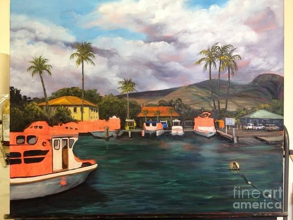 Painting - Lahaina Harbor Wip 6 by Darice Machel McGuire