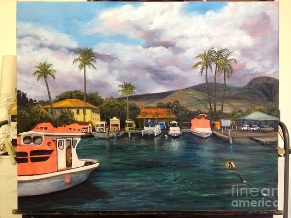 Painting - Lahaina Harbor Wip 7 by Darice Machel McGuire