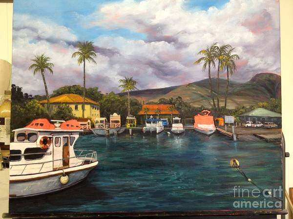 Painting - Lahaina Harbor Wip 8 by Darice Machel McGuire