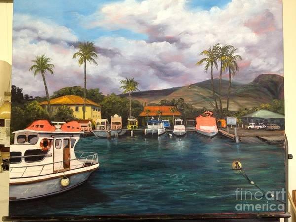 Painting - Lahaina Harbor Wip 8 by Darice Machel McGuire
