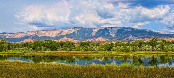 Photograph - Lake And Mesa by Rick Wicker