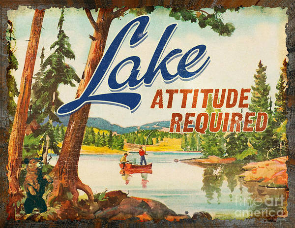Painting - Lake Attitude by JQ Licensing