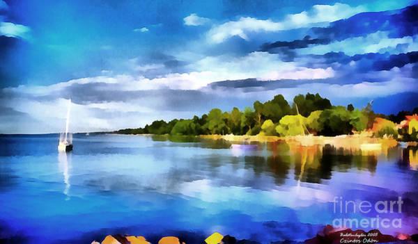 Painting - Lake Balaton At Summer by Odon Czintos