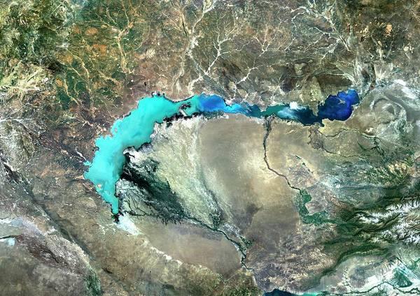 Wall Art - Photograph - Lake Balkhash by Planetobserver/science Photo Library