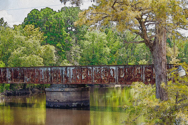 Photograph - Lake Bistineau Train Trestle by Barry Jones