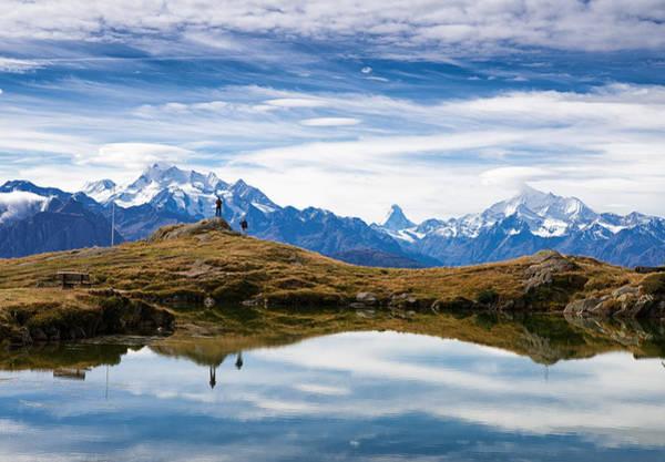 Photograph - Lake Blausee - Blue Lake - Switzerland by Matthias Hauser