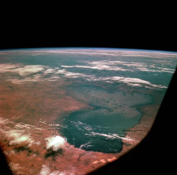 Imagery Photograph - Lake Chad From Space by Nasa/science Photo Library