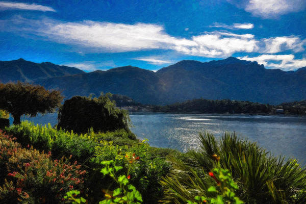 Painting - Lake Como Itl 2611 by Dean Wittle