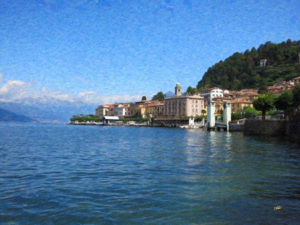 Painting - Lake Como Itl4493 by Dean Wittle