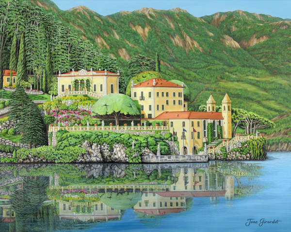 Lake Como Painting - Lake Como Morning by Jane Girardot