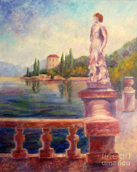 Painting - Lake Como View by Carolyn Jarvis