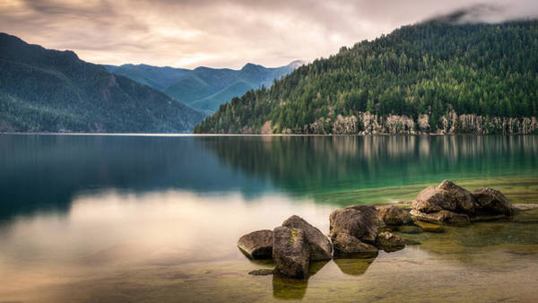Olympic Peninsula Photograph - Lake Crescent Zen by Dan Mihai