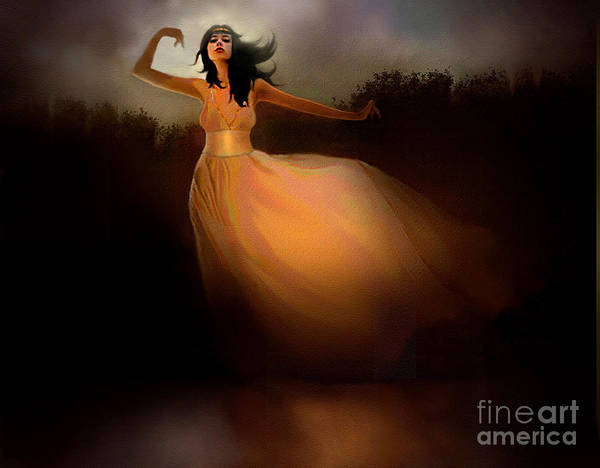 Twirl Painting - Lake Dancer by Robert Foster